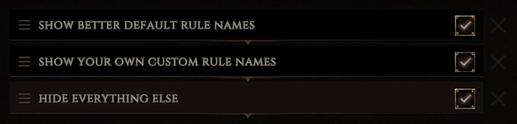 Custom Rule Names