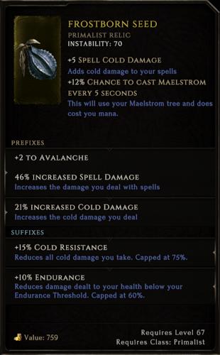 t5 level relic