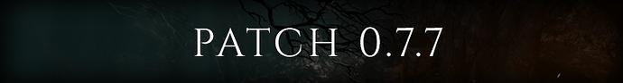 PATCH 0.7.7