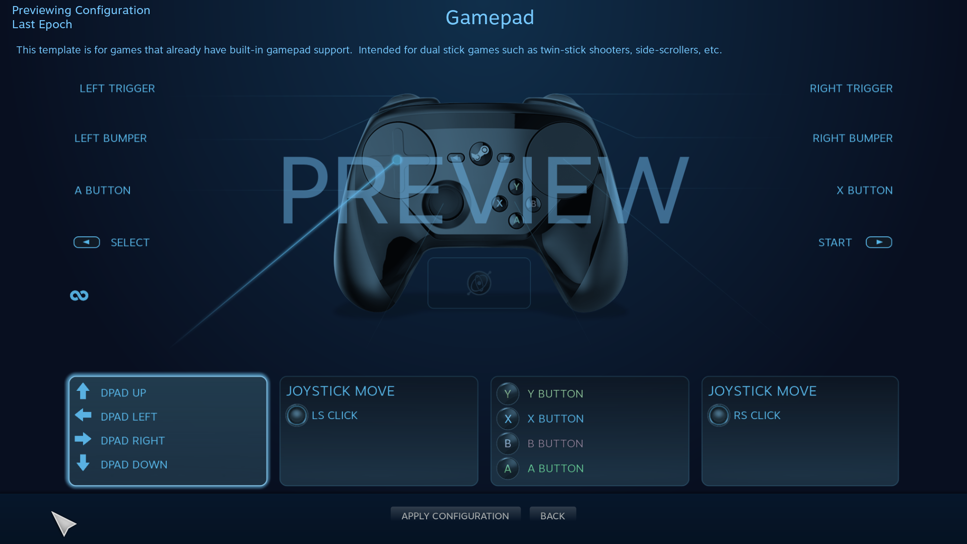 Steam Controller Configuration