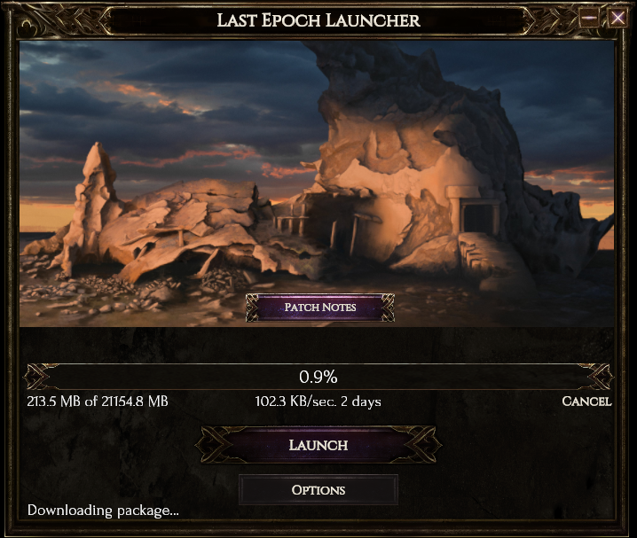 Slow download speeds on Last Epoch launcher - Technical Support